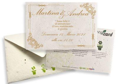 Ecocard per invito al matrimonio